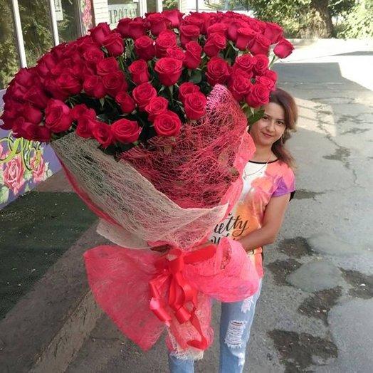 101 метровая роза: букеты цветов на заказ Flowwow