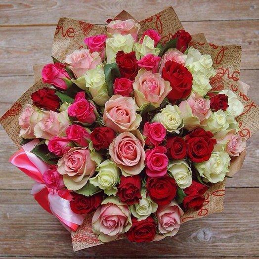 Монобукет из роз: букеты цветов на заказ Flowwow