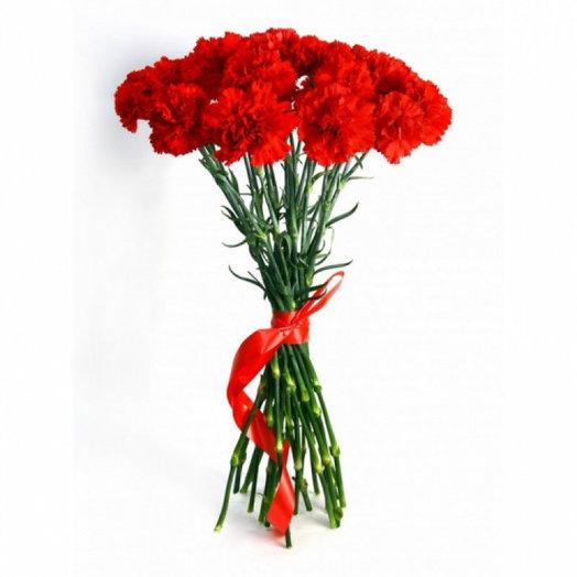 Букет  из 15 гвоздик: букеты цветов на заказ Flowwow