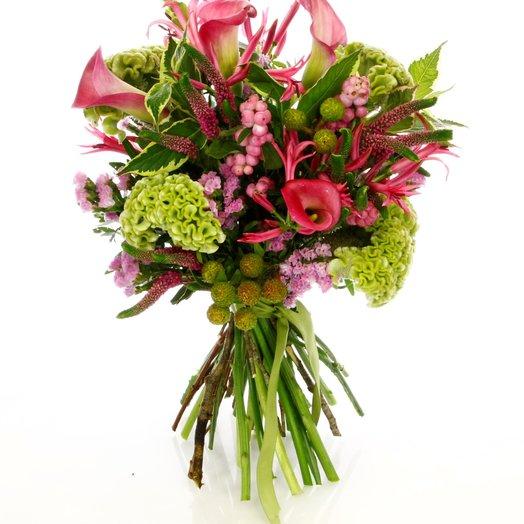Каллы и вероника: букеты цветов на заказ Flowwow