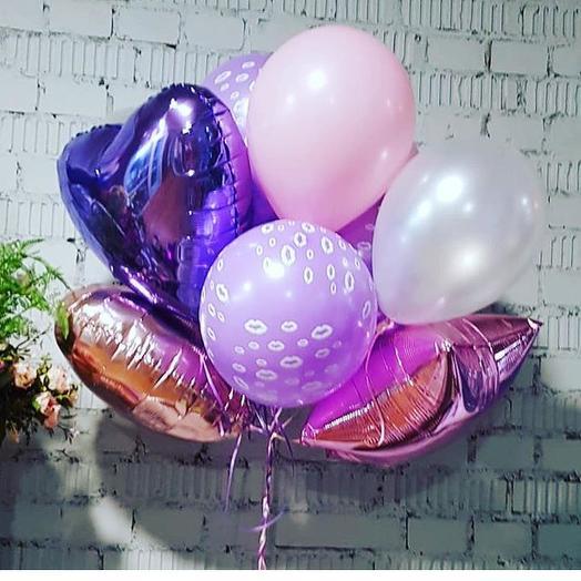 Букет из воздушных шаров «Сиреневые сны»: букеты цветов на заказ Flowwow