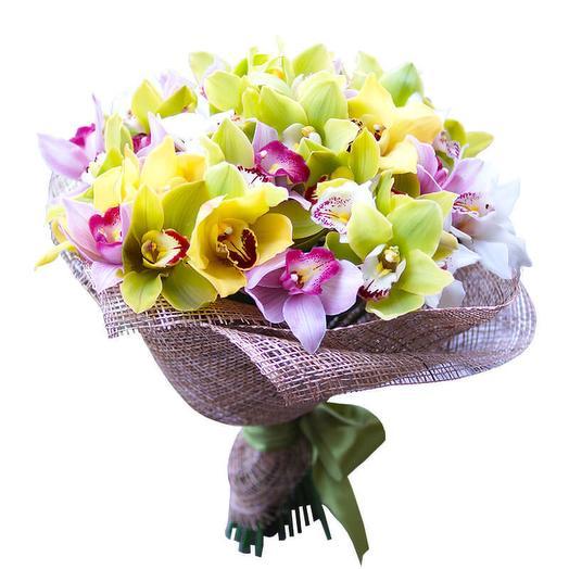 """Букет  """"Орхидеи микс"""": букеты цветов на заказ Flowwow"""