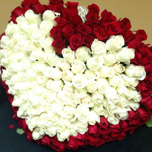 Огненное сердце: букеты цветов на заказ Flowwow