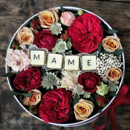 Маме с пионовидными розами: букеты цветов на заказ Flowwow