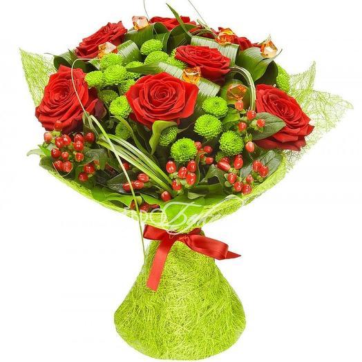Букет  028: букеты цветов на заказ Flowwow