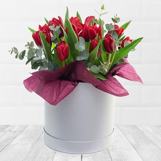 17 тюльпанов в коробочке