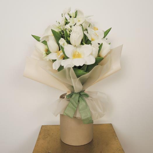 Букет-микс малый (25 см): букеты цветов на заказ Flowwow