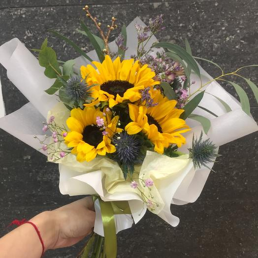 Три солнца: букеты цветов на заказ Flowwow