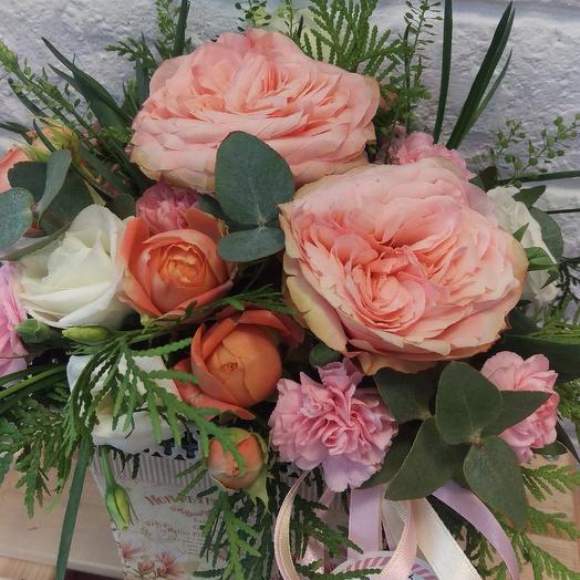 Персиковый сюрприз: букеты цветов на заказ Flowwow