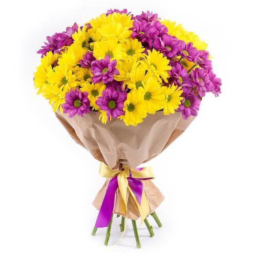 """Букет из 15 хризантем """"Герой дня"""": букеты цветов на заказ Flowwow"""
