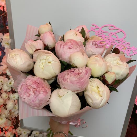 Пионы зефирные: букеты цветов на заказ Flowwow
