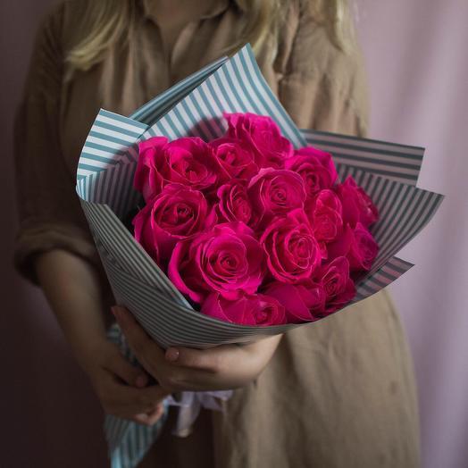15 роз сорта Pink Floyd: букеты цветов на заказ Flowwow