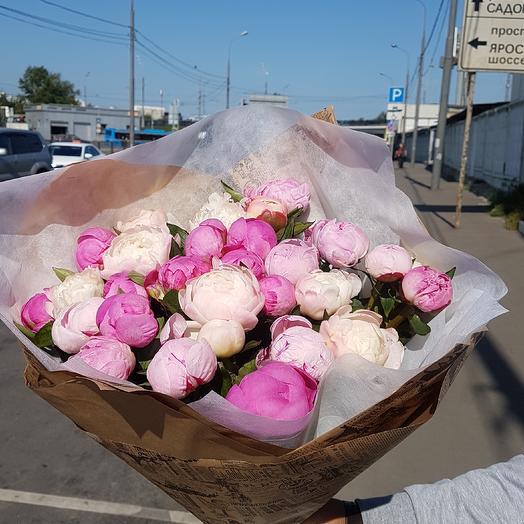 25 пион: букеты цветов на заказ Flowwow