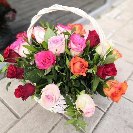 Радость в корзинке: букеты цветов на заказ Flowwow