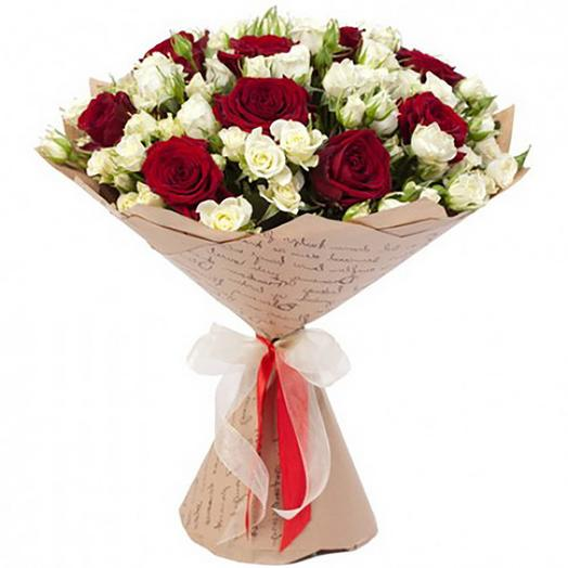 "Букет из роз ""Красота по-американски"": букеты цветов на заказ Flowwow"