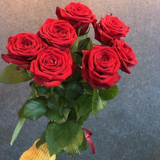 7 роз без упаковки