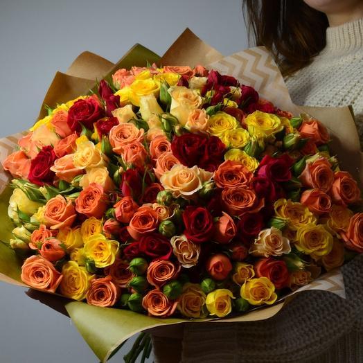 Букет 201 роз кения