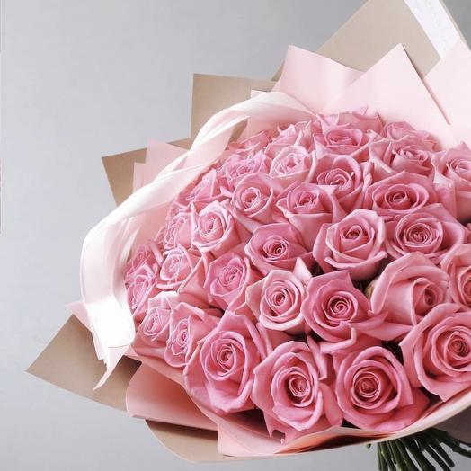 Розовый Люкс: букеты цветов на заказ Flowwow