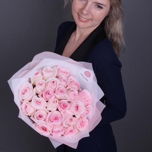 Pink O Hara, 25 шт. Парфюмерная пионовидная садовая роза. Luxury-class: букеты цветов на заказ Flowwow