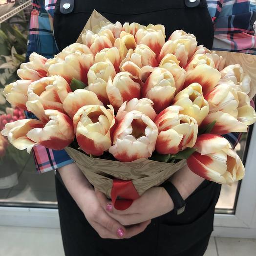 31 тюльпан амбре: букеты цветов на заказ Flowwow
