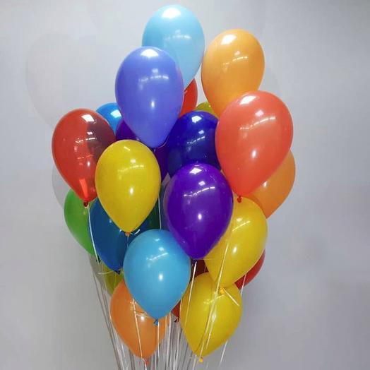 25 гелевый шаров в ассортименте: букеты цветов на заказ Flowwow