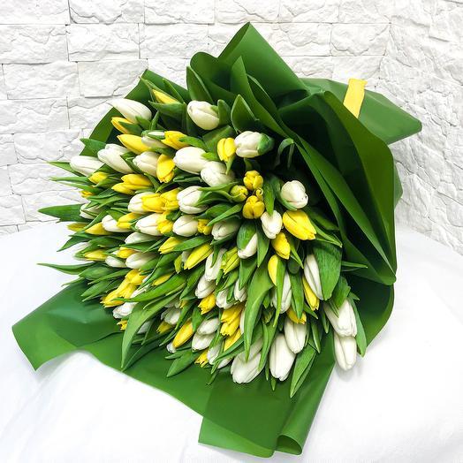 Букет и тюльпанов «Желток»