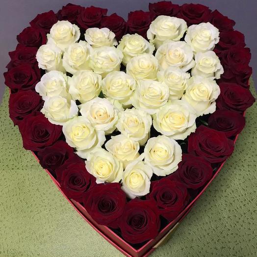 Сердце 51 роза
