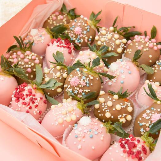"""Клубника в шоколаде в коробке """"Амели"""""""