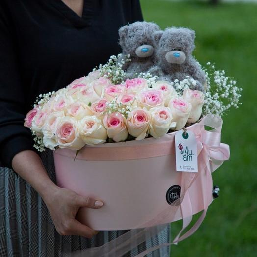 Box of roses with bears Sigtuna