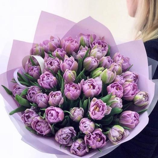 51 пионовидный тюльпан лаванда