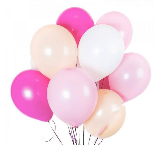 Шары розовый микс 11шт