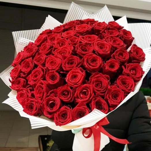 Luxury bouquet of 51 red roses