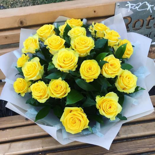 21 roses in a stylish package