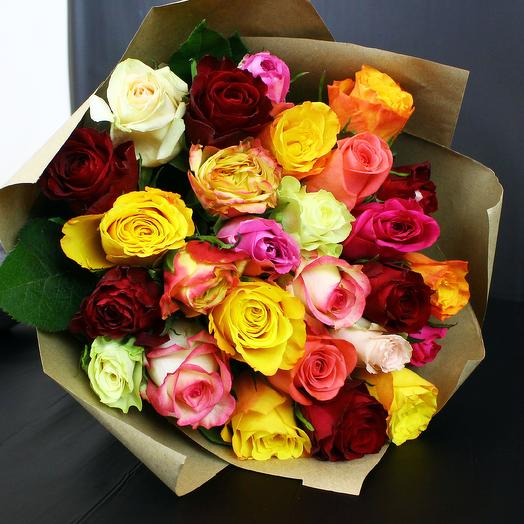 Букет микс из 27 роз