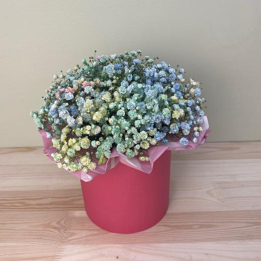 Box with baby's breath