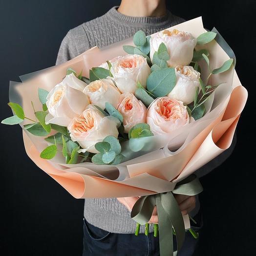 11 пионовидных Роза Джульетта