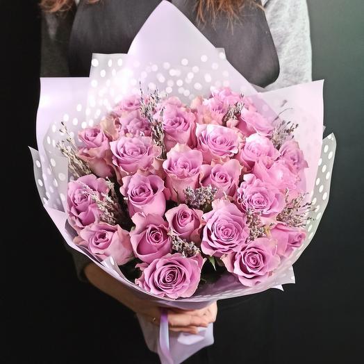 Роза и лаванда