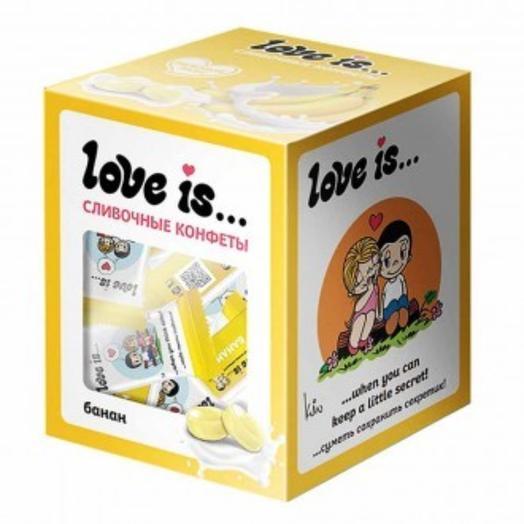 Конфеты Love is жевательные Сливочные со вкусом банана 105 г