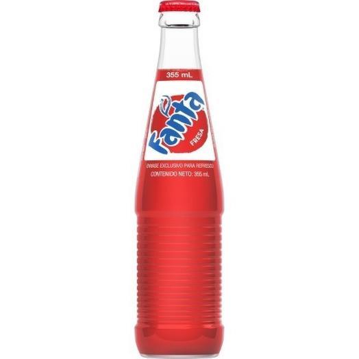 Fanta Strawberry Фанта Клубника в стекле 0,355 л