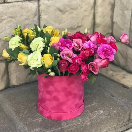 Цветы в коробке 🌹
