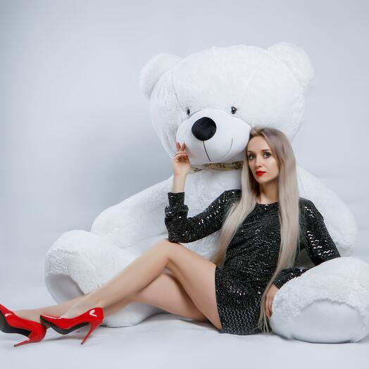 Мишка 220 см «Тауер биг» белый
