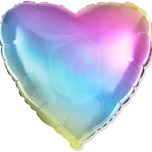 Шар «радужное сердце»