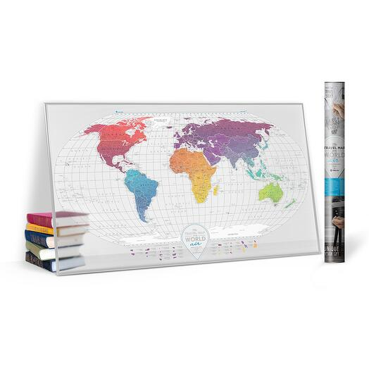 Скретч карта мира Travel Map™ Air World 1DEA.ME