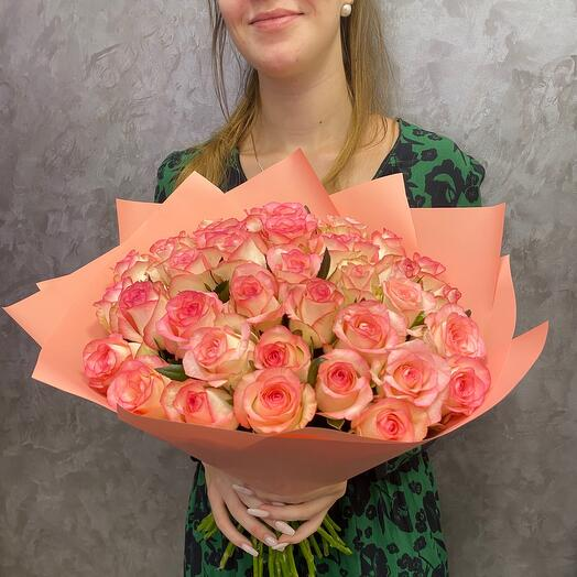 Большой букет из 39 роз