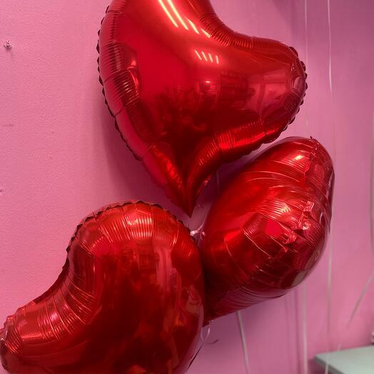 Шары  «сердце», 3 шт