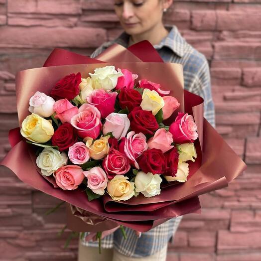 31 роза кения в оформлении