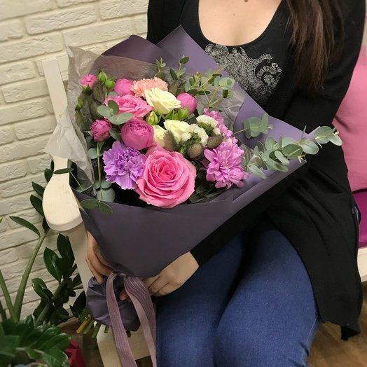 Сиренево-розовый этюд: букеты цветов на заказ Flowwow