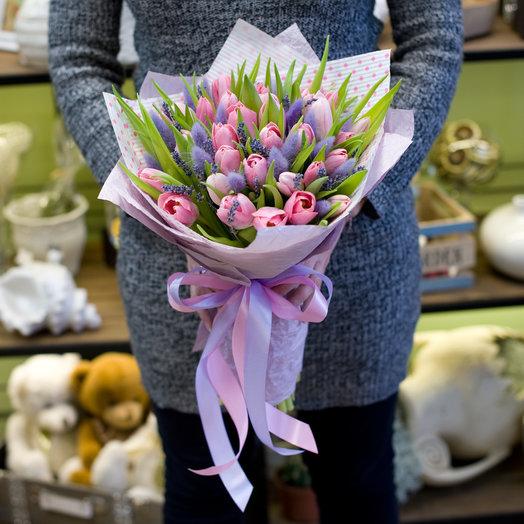 Букет тюльпанов Розовые мечты: букеты цветов на заказ Flowwow
