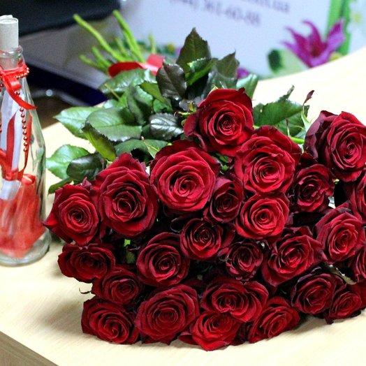 25 роз 50 см: букеты цветов на заказ Flowwow