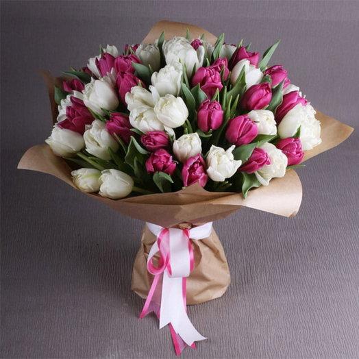 """Букет тюльпанов """"Для самой любимой"""": букеты цветов на заказ Flowwow"""